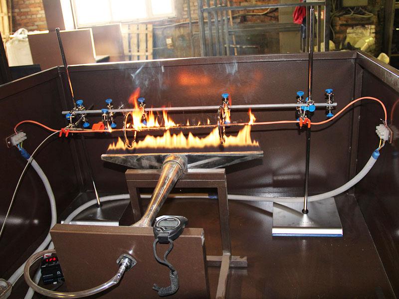 Проверка материалов на огнестойкость
